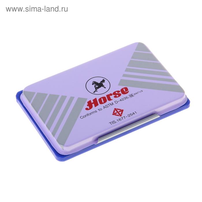 Подушка штемпельная 85х54 мм, синяя, металлическая