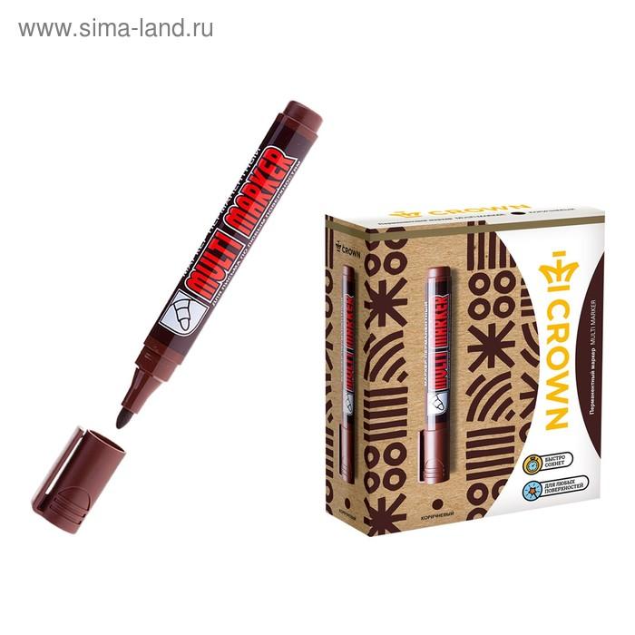 Маркер перманентный 3.0 мм Crown MULTI MARKER коричневый