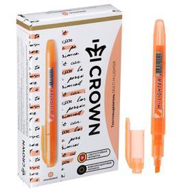 Маркер текстовыделитель 4.0 Crown H-500 оранжевый