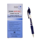 Ручка гелевая автоматическая Crown, стержень синий, узел 0.7 мм, грип