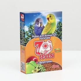 Корм Seven Seeds для волнистых попугаев, с фруктами, 500 г Ош