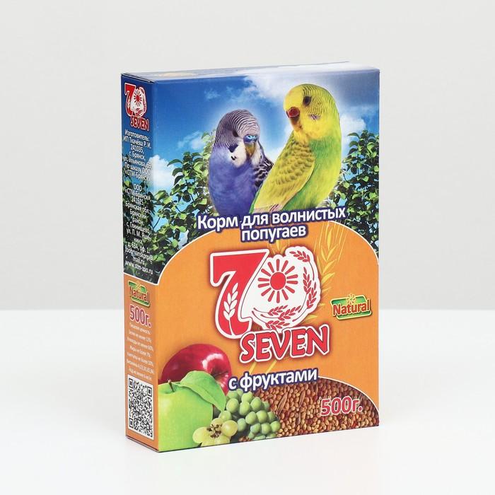 Корм Seven Seeds для волнистых попугаев, с фруктами, 500 г