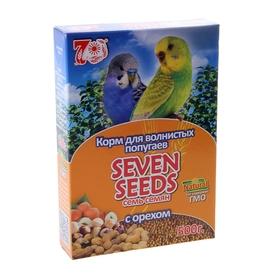 Корм Seven Seeds для волнистых попугаев, с орехами, 500 г Ош