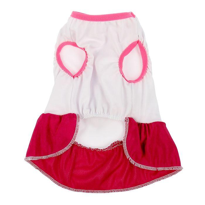 Платье с бантом, размер М (ДС 25 см, ОГ 36 см), микс цветов