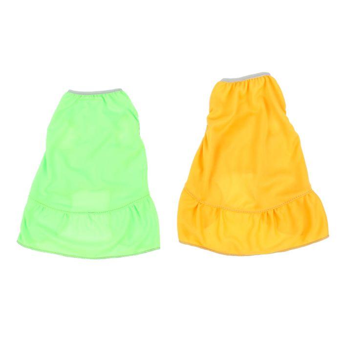 Платье трикотажное, размер L  (ДС 30 см, ОГ 40 см), микс цветов