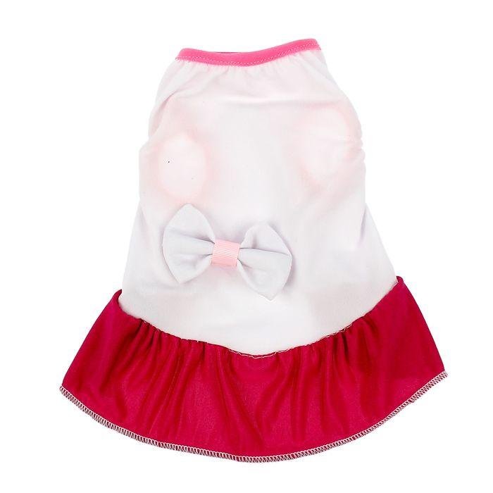 Платье с бантом, размер L (ДС 30 см, ОГ 40 см), микс цветов