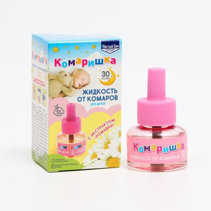 Жидкость от комаров Чистый дом Комаришка для детей 30 ночей