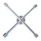 Ключ балонный TUNDRA premium, крестообразный, сатин, D16х350 мм, 17х19х21х23 мм