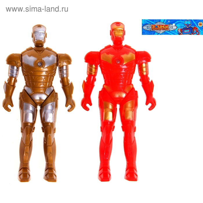 """Робот """"Железный рыцарь"""", набор 2 шт, световые эффекты, работает от батареек"""