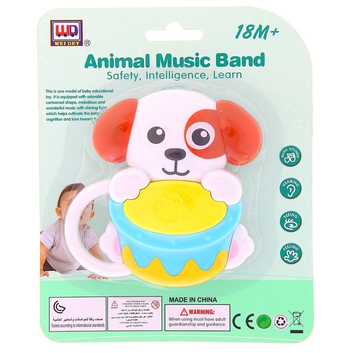 Музыкальная игрушка «Собачка с барабаном»