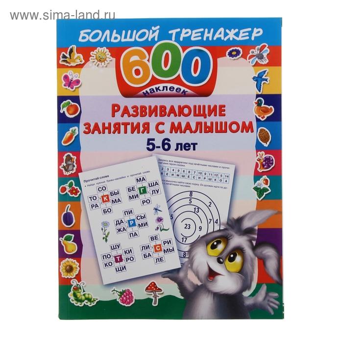 600 наклеек. Развивающие занятия с малышом 5-6 лет.