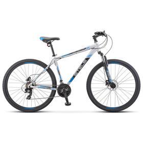 """Велосипед 29"""" Stels Navigator-900 D, F010, цвет серебристый/синий, размер 17,5"""""""
