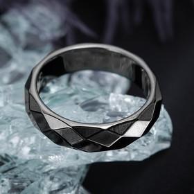 "Кольцо ""Гематит"" 5 мм, размер МИКС"