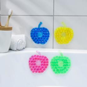 Мини-коврик для ванны «Яблоко», 8×8 см, цвет МИКС в Донецке