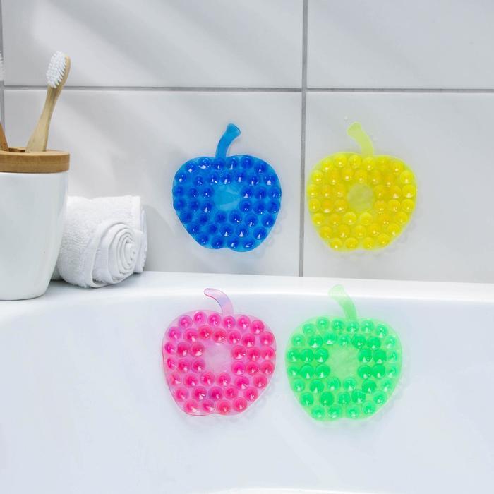 """Мини-коврик для ванны """"Яблоко"""", цвет МИКС"""