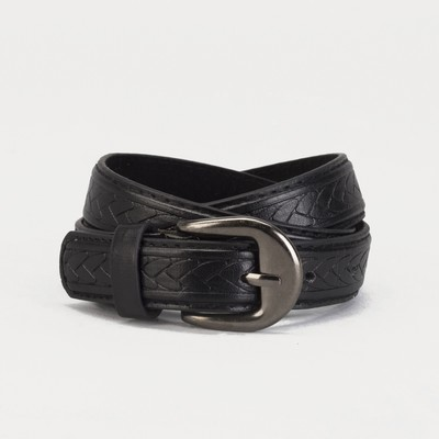 Children's belt, screw, metal buckle, width 2 cm, 75-90 cm, color black