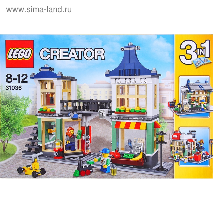 """Конструктор """"Магазин по продаже игрушек и продуктов"""", 466 деталей"""