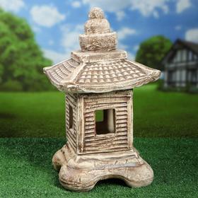 """Садовая фигура-светильник """"Китайский дом"""", шамот, 35 см, без элемента питания"""