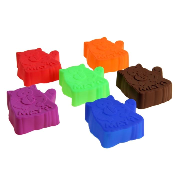 """Набор форм для запекания 6 шт. """"Котэ"""", микс цветов, 7 см, глубина 2,3 см - фото 280969645"""