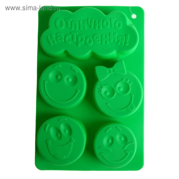 """Форма для выпечки """"Отличного настроения"""", зеленый, 27,3 х 17,3 см, глубина 4,3 см"""