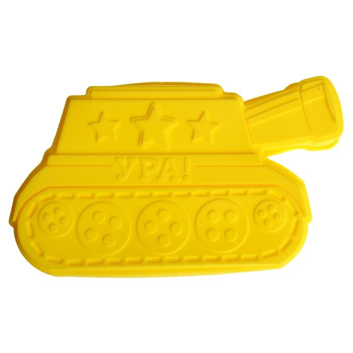 "Форма для выпечки ""Ура"", желтый, 25 х 14,5 см, глубина 4 см"