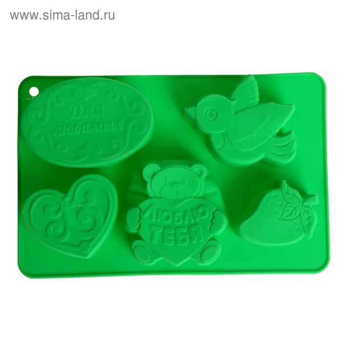 """Форма для выпечки """"Для любимых"""", зеленый, 27 х 17,5 см, глубина 4,3 см"""