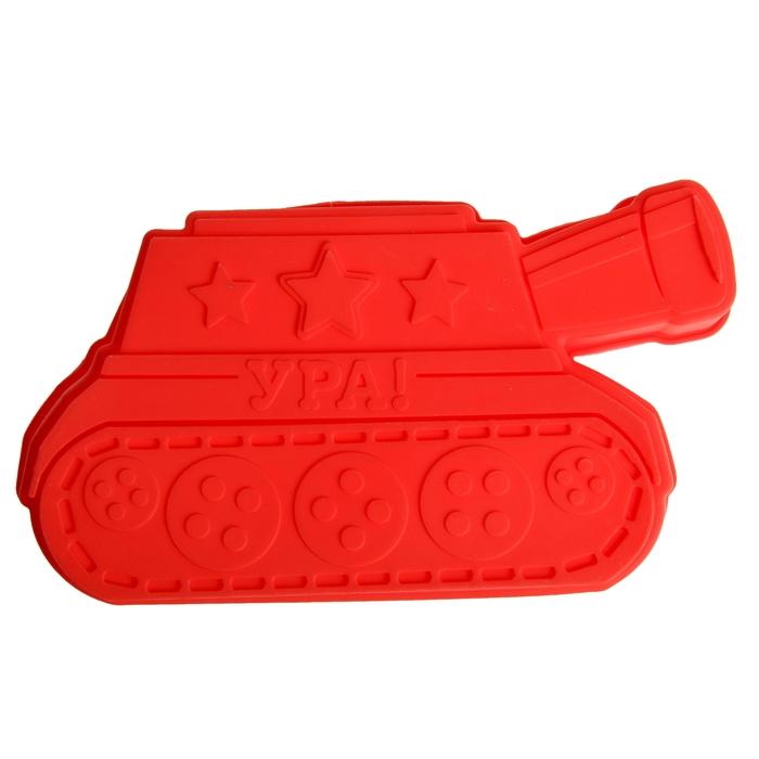"""Форма для выпечки """"Ура"""", красный, 25 х 14,5 см, глубина 4 см"""