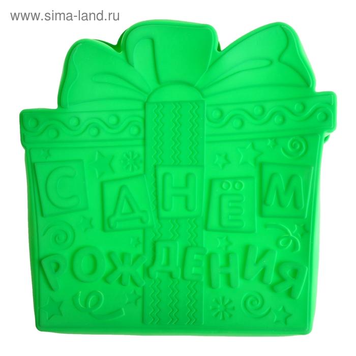 """Форма для выпечки """"С Днем рождения"""", зеленый"""