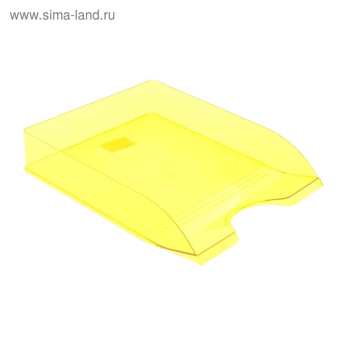 """Лоток для бумаг горизонтальный """"Дельта"""", желтый YELLOW"""