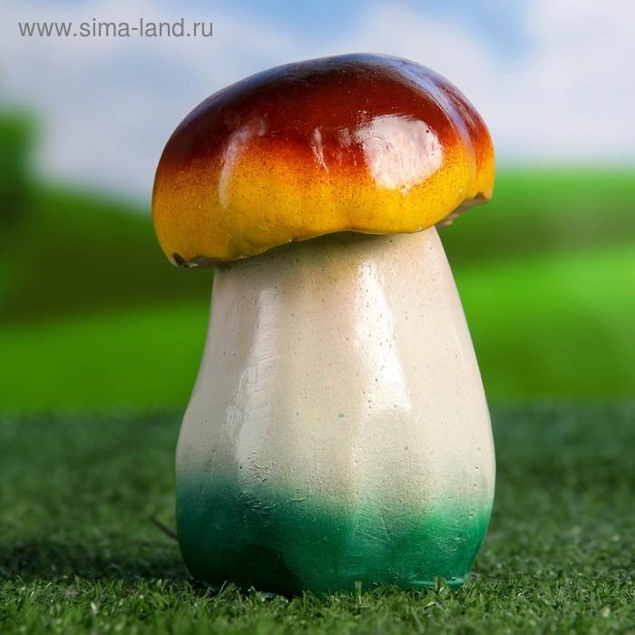 """Садовая фигура """"Грибок"""" малая, бело-зелёная ножка"""