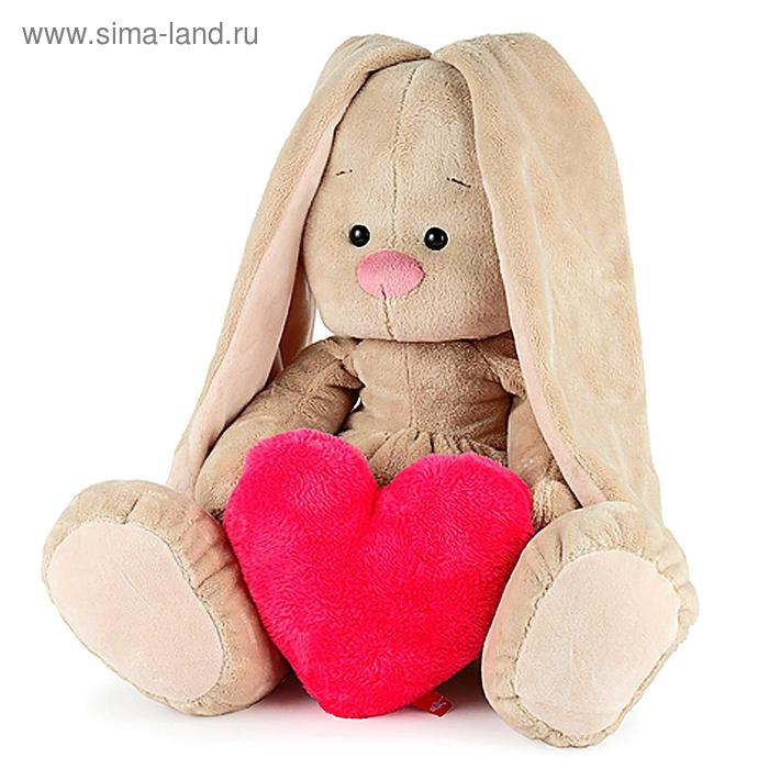 """Мягкая игрушка """"Зайка Ми"""" с сердцем, большой"""