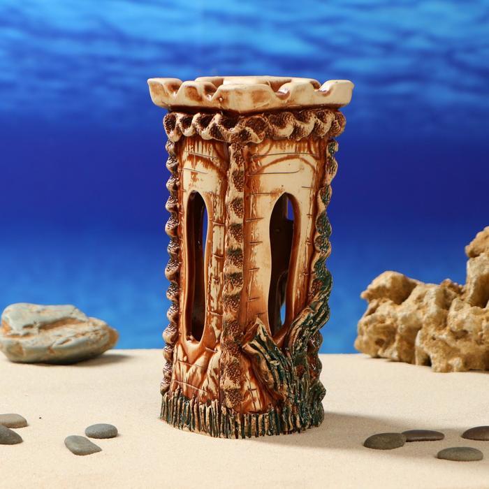 """Декорация для аквариума """"Башня"""", 10 х 13 х 23 см"""