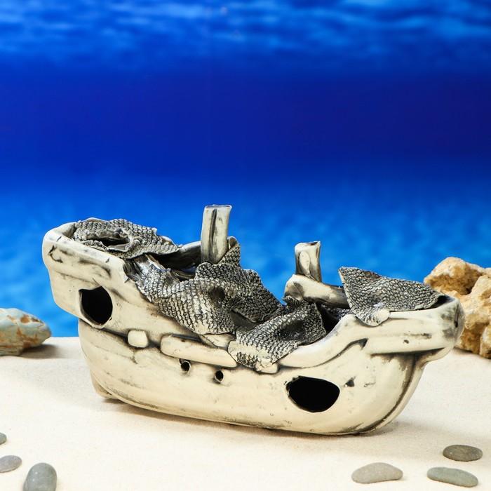 """Декорация для аквариума """"Корабль'', 10 х 28 х 14 см, микс"""