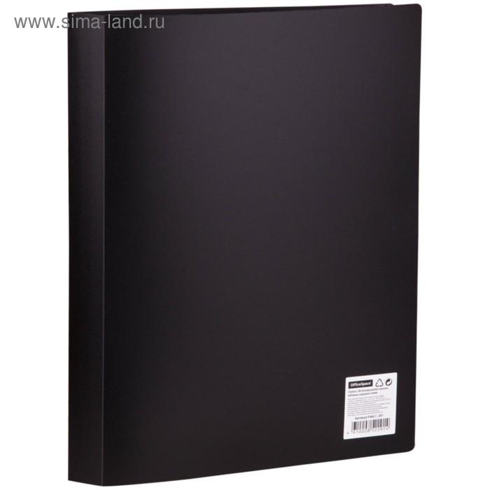 Папка с 40 прозрачными вкладышами А4, 600мкм, черная