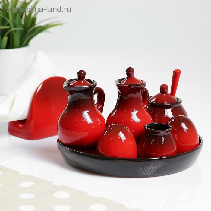 """Набор для специй """"Премиум Макси""""  красный"""