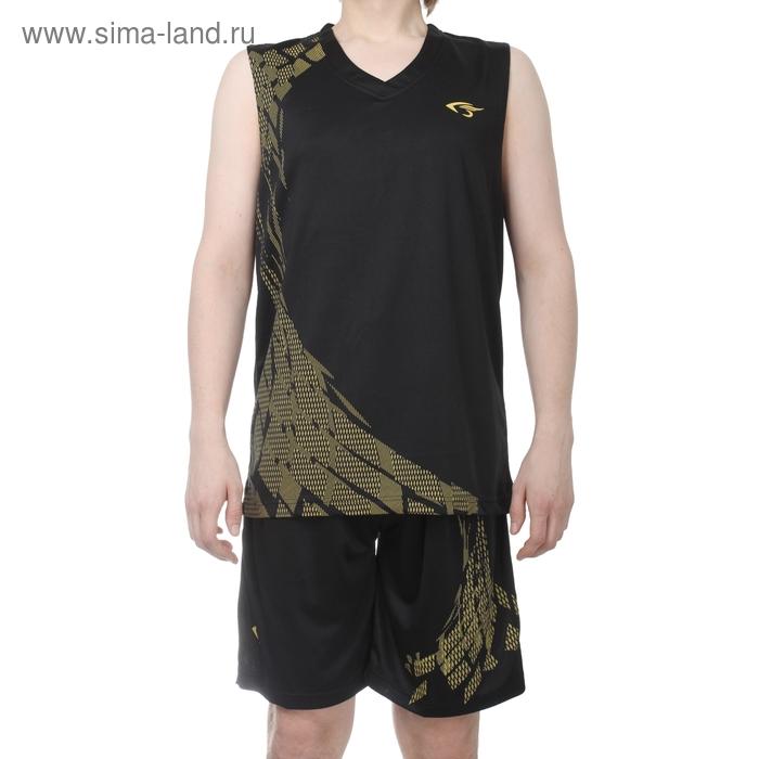 Форма баскетбольная 2XL, рост 170-175 см, цвет черно-желтый