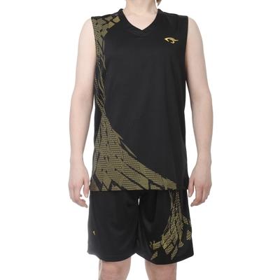Форма баскетбольная 4XL, рост 180-185 см, цвет черно-желтый