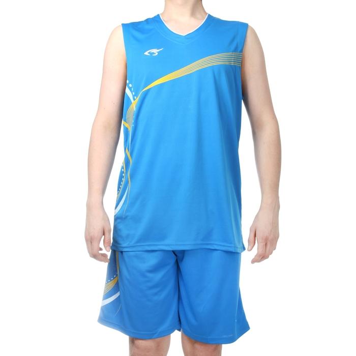 Форма баскетбольная 4XL, рост 180-185 см, цвет син-желтый