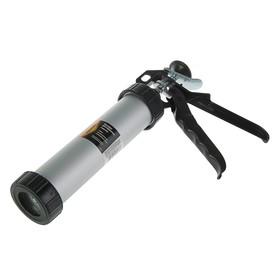 Пистолет для герметика Sparta, 400 мл, закрытый, алюминиевый корпус, круглый шток 8 мм