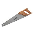 Ножовка по дереву Sparta, 400 мм, 7-8 ТРI, каленый зуб, линейка, деревянная рукоятка