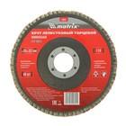 Круг лепестковый торцевой MATRIX, P 24, 125 х 22.2 мм