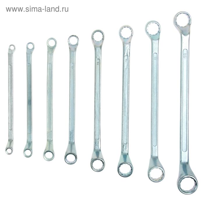 Набор ключей накидных Sparta, 8 шт, 6–22 мм, хромированные
