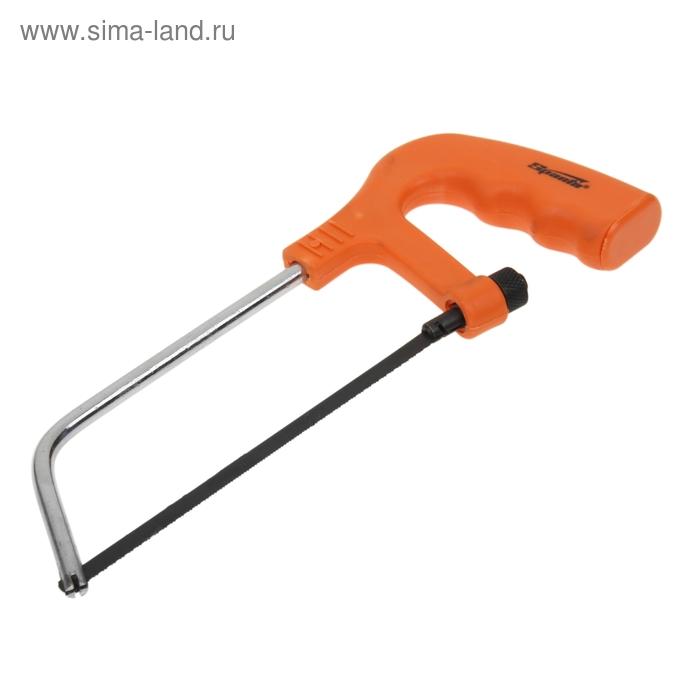 Ножовка по металлу Sparta, с пластмассовой ручкой, хромированная, 150 мм