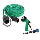 """Шланг резиновый, d = 12 мм (1/2""""), L = 10 м, текстильная оплётка, распылитель, 4 режима, цвет МИКС"""