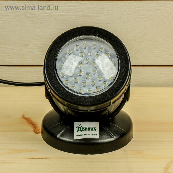 Подсветка фонтана SDL-201A, 12 В, 2.5 Вт, d=96 мм, шнур 10 метров, белый, IP68