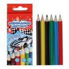 Карандаши 6 цветов МИНИ Calligrata «Машинка» - фото 2128953