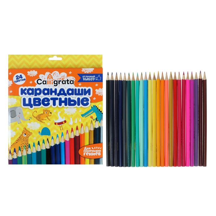 Карандаши 24 цвета, «Школа талантов»