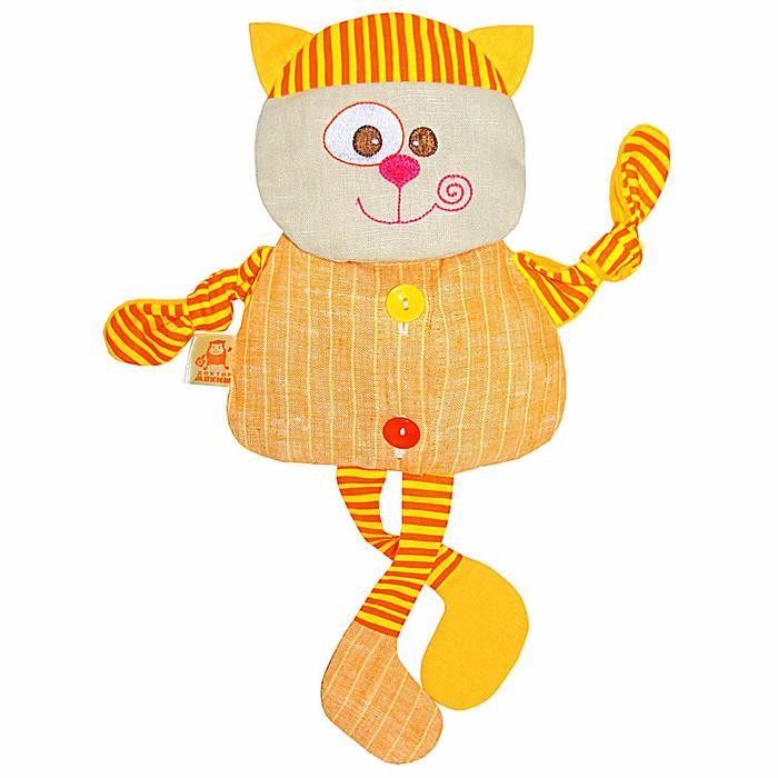 """Развивающая игрушка с вишнёвыми косточками """"Кот. Доктор мякиш"""" - фото 105533314"""