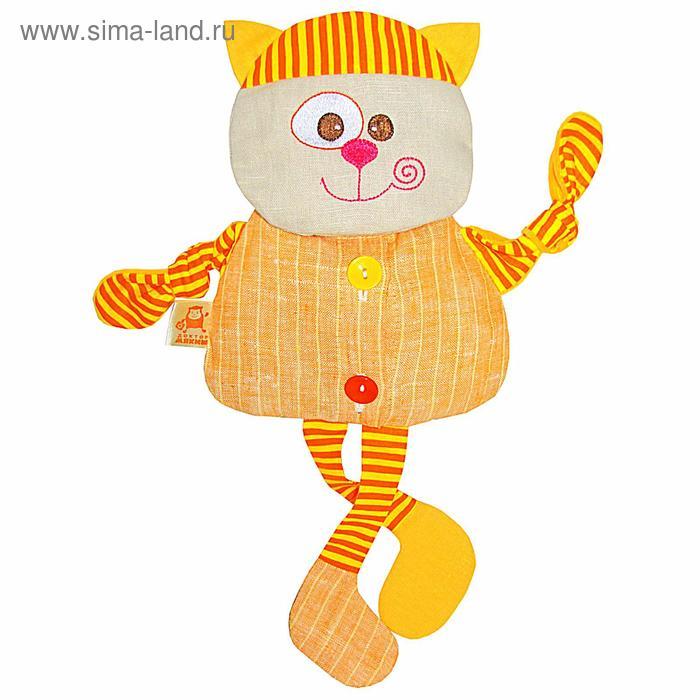 """Развивающая игрушка с вишнёвыми косточками """"Кот. Доктор мякиш"""""""