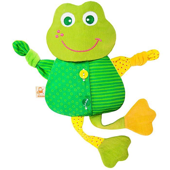 """Развивающая игрушка с вишнёвыми косточками """"Лягушка. Доктор мякиш"""" - фото 105533318"""
